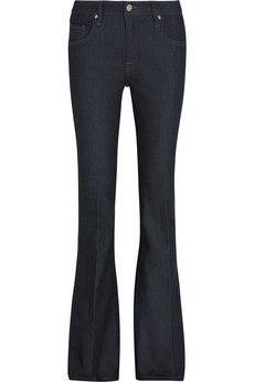 Victoria Beckham Denim Flare high-rise flared jeans   NET-A-PORTER