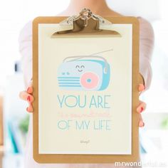 Lámina summer con relieve - You are the soundtrack of my life