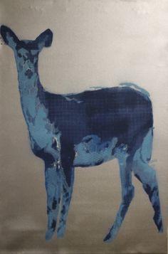 Winter Deer by NeoGlyphs on Etsy, $120.00