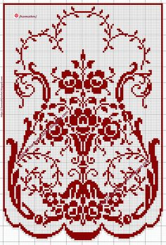 Crochet Curtain Pattern, Crochet Curtains, Crochet Tablecloth, Crochet Patterns, Annie's Crochet, Fillet Crochet, Filet Crochet Charts, Crochet Diagram, Cross Stitch Designs