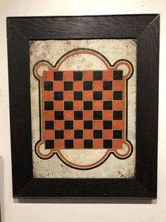 Game Boards, Board Games, Checker Game, Game Art, Folk Art, Design Art, Tin, Country, American