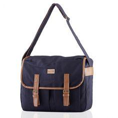 "Artsivaris canvas satchel 14"" laptop school messenger bag business briefcase"