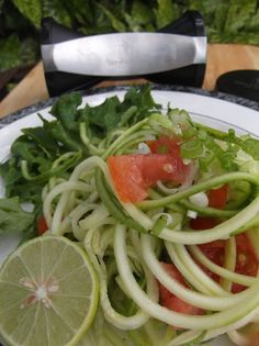 What's For Supper?: Zucchini Noodles with Lime Tomato Salsa