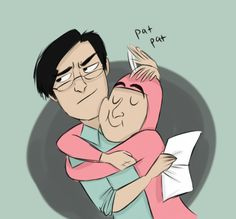 Frank and pink guy by nearlycassidy on tumblr