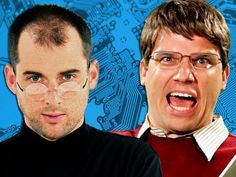 Steve Jobs vs Bill Gates (or Apple vs PC) Epic Rap video!