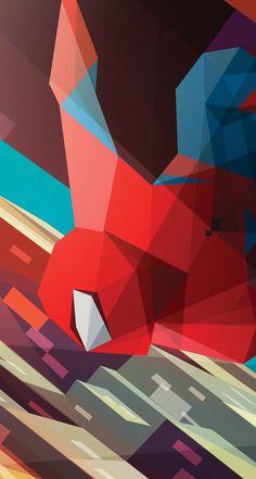 #spiderman #wallpaper #geometric #artwork