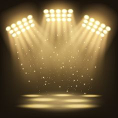 Bright stadium spotlights background Pre... | Free Vector #Freepik #freevector #background #abstract #party #design Green Background Video, Green Screen Video Backgrounds, Black Background Wallpaper, Studio Background Images, Background Images For Editing, Banner Background Images, Poster Background Design, Background Images Wallpapers, Lights Background