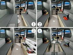 2017 Airstream Basecamp Lounge Bed Configurations
