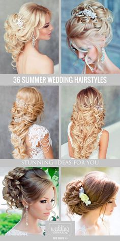 30 Stunning Summer Wedding Hairstyles ❤ Continue to our gallery of summer…
