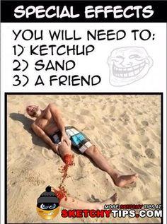 Beach photo idea -