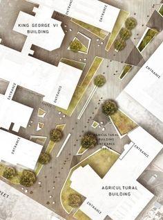 Newcastle University Kings Road - Courtyards