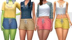 Sims 4 Maxis Match CC finds for you daily. Sims 4 Clothing, Clothing Items, Sims 4 Mm Cc, Sims 4 Game, Ripped Shorts, Sims 4 Cc Finds, Pants For Women, Clothes For Women, The Sims4