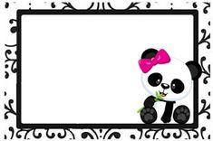 Professora Tati Simões: Kit Panda Preto, branco e rosa para imprimir grátis Panda Icon, Panda Birthday, Panda Party, Panda Love, Baby Shower Princess, Background Images, Minnie Mouse, Crafty, Disney Characters