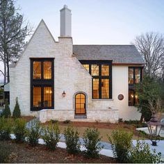 Current exterior inspiration --stone and steel frame
