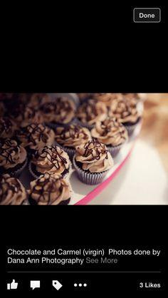Baileys Chocolate and Caramel mini cupcakes - bridal