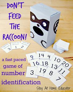 Don't Feed The Raccoon! a fast paced game of number identification - Stay At Home Educator