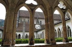 Saint-Ursanne am Doubs. Jura. Schweiz.