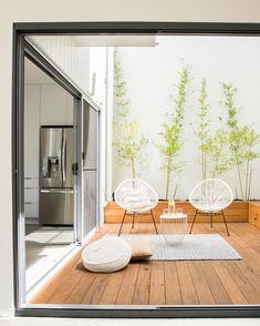 Internal Courtyard, Interior Architecture, Interior Design, Timber Deck, Interior Garden, Building A Deck, Solar, Villa, Backyard