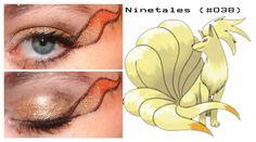 Pokemakeup 038 Ninetales by nazzara on DeviantArt Pokemon Makeup, Pokemon Halloween, Cosplay Makeup, Body Modifications, Makeup Inspiration, Deviantart, Diy And Crafts, Makeup Looks, Eyeshadow
