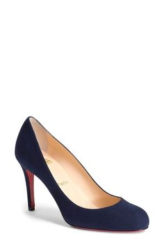 Free shipping and returns on Christian Louboutin Simple Pump at Nordstrom.com. Lush suede complements the sleek curves of a classic round-toe pump in a soft neutral hue. Christian Louboutin's iconic red sole flashes with each step to provide self-assured glamour that speaks volumes without saying a word.
