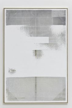Hugh Scott Douglass untitled, 2011 Laser cut on gessoed linen 60 x 40 inches