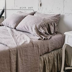 Bedding set queen Shabby chic bedding Linen SHEET SET with