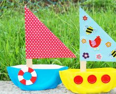 Paper Plate Sailboat for Jesus calms the storm