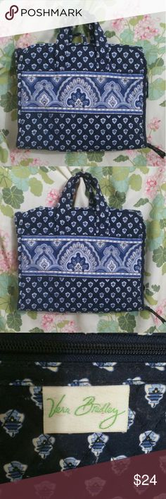 Vera Bradley travel bag makeup case bag Vera Bradley travel bag makeup case bag. This is in good used condition does have remnants of makeup and show signs of use but still has a lot of life left! Vera Bradley Bags Travel Bags