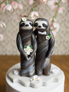 Cute Baby Sloths, Cute Sloth, Wedding Cake Toppers, Wedding Cakes, Cutest Animals On Earth, Funny Animals, Cute Animals, All Things Cute, Fancy Cakes