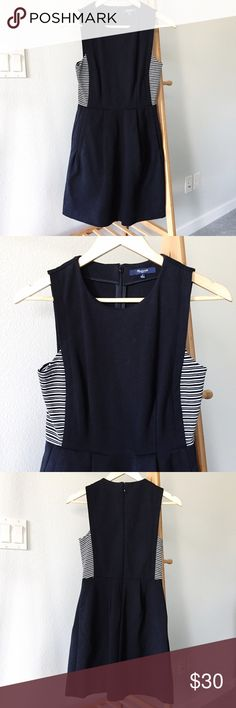 Selling this Madewell Abroad dress in stripe inset size 0 on Poshmark! My username is: hurricanekimi. #shopmycloset #poshmark #fashion #shopping #style #forsale #Madewell #Dresses