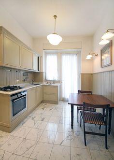 #sanbabila #2bedroom apartament : An Italian kitchen with all appliances with access balcony. custom cabinets wall.
