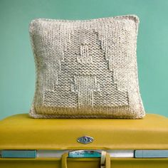 A is for Alphabet - 14x14 Hand Knit Pillow - Made to Order