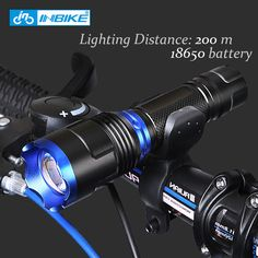 INBIKE Waterproof Bike Front Light LED Torch Bike Flashlight Lamp Night Mtb Road Bike Cycling Light Bicycle Fashlight Mount  #Affiliate
