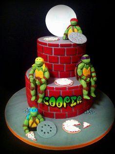 Ninja turtles cake :) yumm