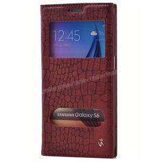 Samsung Galaxy S6 Çift Pencereli Mıknatıslı Kılıf Kırmızı -  - Price : TL31.90. Buy now at http://www.teleplus.com.tr/index.php/samsung-galaxy-s6-cift-pencereli-miknatisli-kilif-kirmizi.html