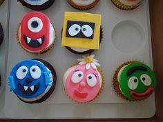 Yo Gabba Gabba Cupcakes, Fondant Cupcake Toppers!