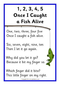 Once I Caught a Fish Alive song sheet - SparkleBox Nursery Rhymes Lyrics, Nursery Rhymes Preschool, Nursery Rhymes Songs, Preschool Music, Kids Rhymes Songs, Preschool Classroom, Alive Song, Counting Songs, Counting Rhymes