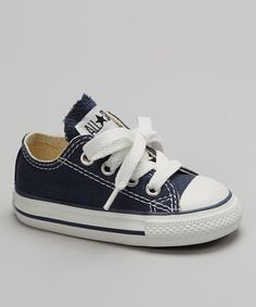 Take a look at this Navy Low Sneaker - Infant & Toddler by Converse on #zulily today!