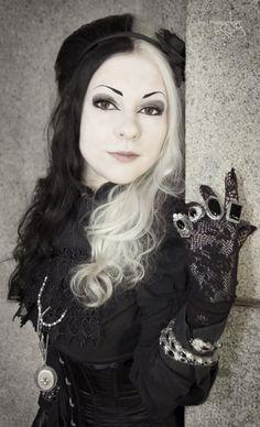Steampunk Goth girl.