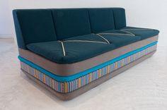 Contemporary Bidoun Blue Sofa Design by Katrin Greiling Mobiles, Sofa Furniture, Furniture Design, Old Mattress, Home Decor Quotes, Luxury Sofa, Take A Seat, Modern Sofa, Sofa Design
