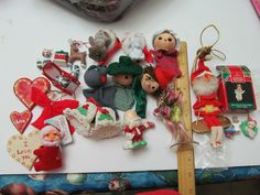 Lot Of 25 Christmas Onaments, Vintage elf, more