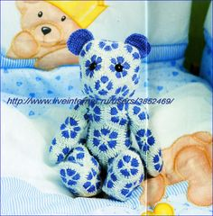 African Flower Little Bear Pattern