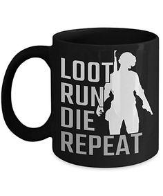 Coffee Mug Cup 11oz Winner Winner Chicken Dinner Battlegrounds PC Steam  Xbox Run Loot Die Repeat Gaming Online Shooter Game   By Letu0027s Rock Games  #pubg ...