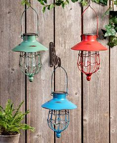 The Lakeside Collection Industrial Style Water Garden Faucet Stakes with Solar String Lights Set of 2