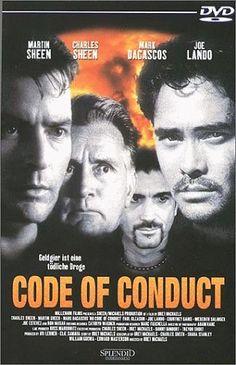 Charlie Sheen, Martin Sheen, Mark Dacascos, and Joe Lando in No Code of Conduct (1998)