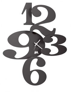 Zegar ścienny DENIM Czarny - Arti&Mestieri - DECO Salon #clock #wallclock #giftidea