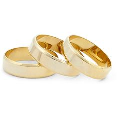 Sole Society Gold Band Set (13 CAD) ❤ liked on Polyvore featuring jewelry, rings, accessories, bracelets, fillers, gold, band rings, band jewelry, polish jewelry and gold band ring