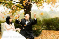 Bride and groom. Fall wedding. Leaves. Our vintage glam fall wedding. #broach #newjersey #wedding #vintagewedding #fallwedding #glamwedding #glam #fall #wedding #peronafarms #nj #bride #groom #weddingplanning #vintage #bride #groom #justmarried #inspiration #weddingideas #masonjar #babysbreath #vintagebride #tealandgray #teal #gray #shrug #alenconlace #ostrichfeathers #brideshrug