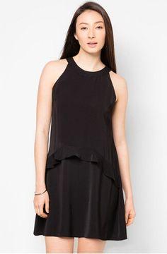 nuevo 2014 halterneck negro con volantes vestido swing-XL Falda-Identificación del producto:300003795051-spanish.alibaba.com
