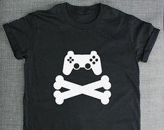 Controller and Cross Bones Gaming T-Shirt Computer Gamer T-Shirt